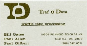 Traf-o-data - първата фирма на Бил Гейтс