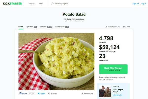 Картофена салата за 60 000 долара