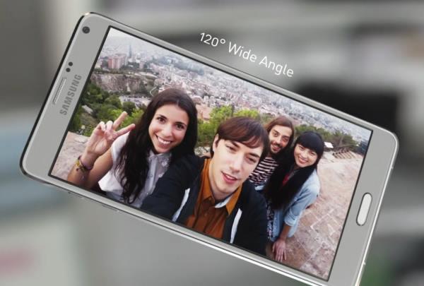 Предната камера на Galaxy Note 4