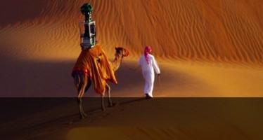 Google снимат пустинята Лива от гърба на камила