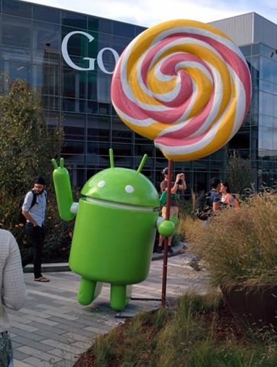 Android lollipop вече има и своя фигурка