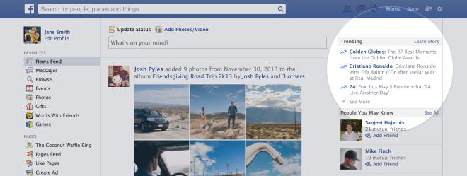 Facebook манипулирал новините показвани в Tranding