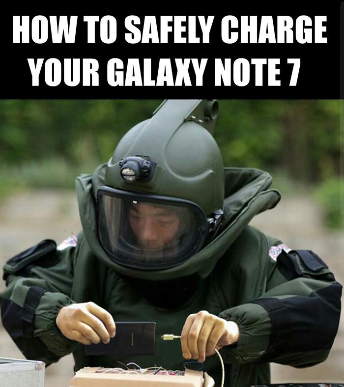 Топ 10 на най-смешните подигравки с експлоадиращите батерии на Galaxy Note 7 - 2